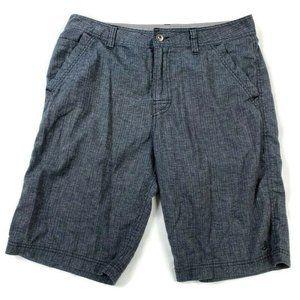 Prana Breathe Mens 33 Gray Hemp Shorts